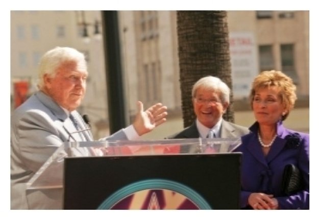 Merv Griffin with Judge Jerry Sheindlin and Judge Judy Sheindlin