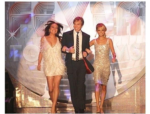 Lindsay Lohan, Tommy Hilfiger and Nicole Richie
