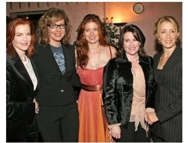 Crack'd Xmas 7 Party: Marcia Cross, Debra Messing, Megan Mullally and Felicity Huffman