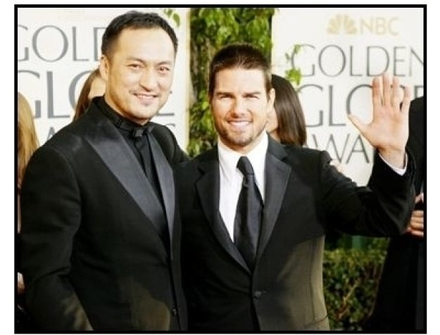 61st Annual Golden Globes Awards--Red Carpet--Tom Cruise and Ken Watanabe--Getty--ONE TIME USE ONLY