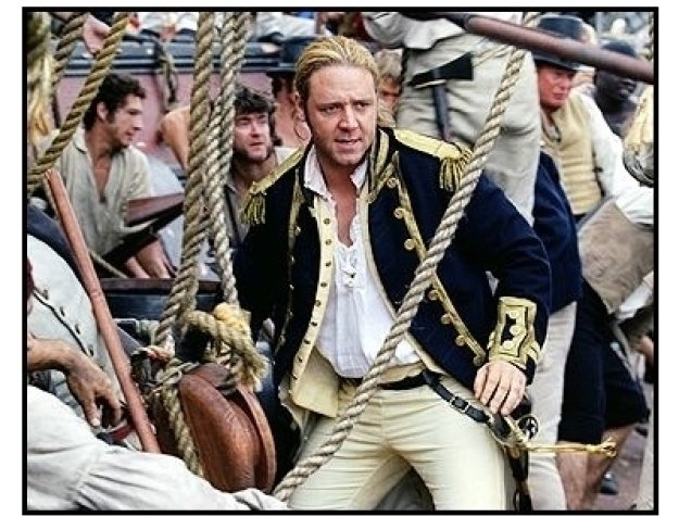 """Master and Commander: The Far Side of the World"" Movie Still: Russell Crowe"