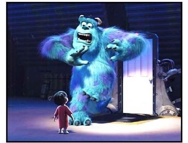 """Monsters Inc.""  Movie Stills: Sulley and Boo"
