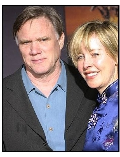 "Director Joe Johnston and wife Lisa at the ""Hidalgo"" premiere"
