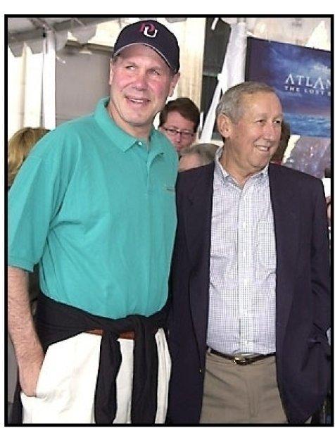 Michael Eisner and Roy Disney at the Atlantis premiere