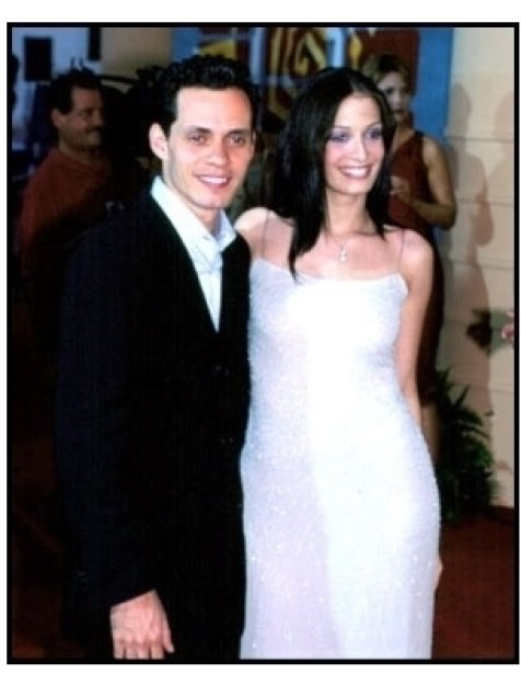 Marc Anthony and wife at the 2001 Billboard Latin Music Awards