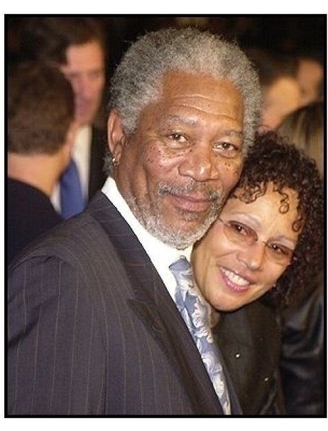 "Morgan Freeman and wife Myrna at ""The Big Bounce"" premiere"