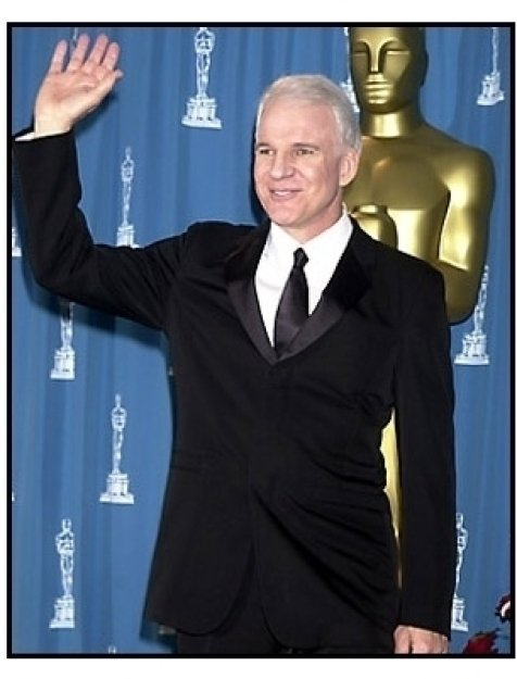 Steve Martin backstage at the 2001 Academy Awards