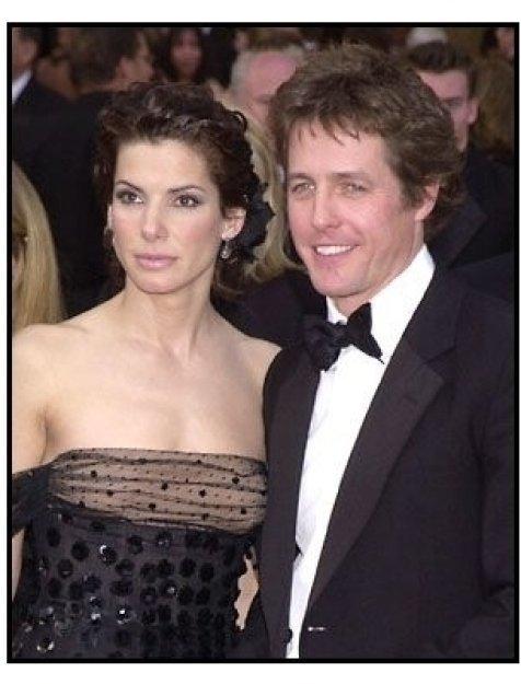 Sandra Bullock and Hugh Grant at the 2002 Academy Awards
