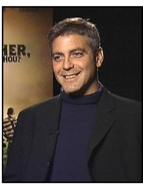 O Brother Where Art Thou interview video still: George Clooney