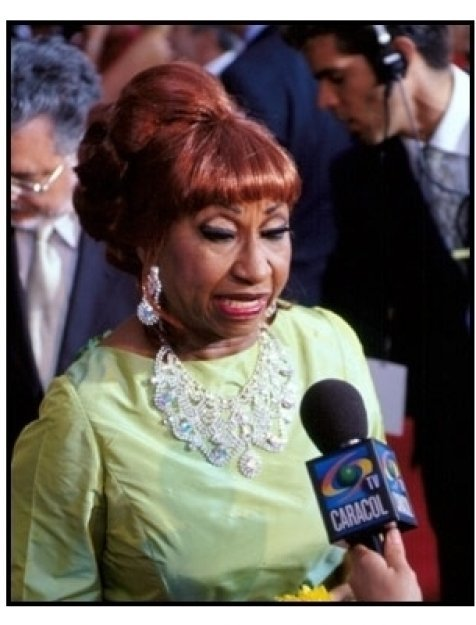 Celia Cruz at the 2001 Billboard Latin Music Awards