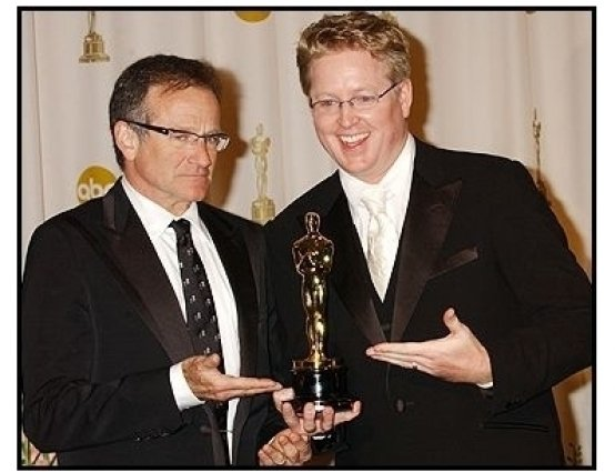 76th Annual Academy Awards - Robin Williams and Andrew Stanton - Backstage
