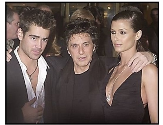 "Colin Farrell, Al Pacino and Bridget Moynahan at ""The Recruit"" premiere."
