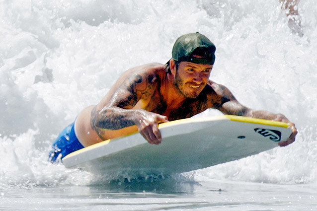 David Beckham, surfing