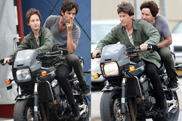 Dakota Johnson, Penn Badgley, Stunt Doubles