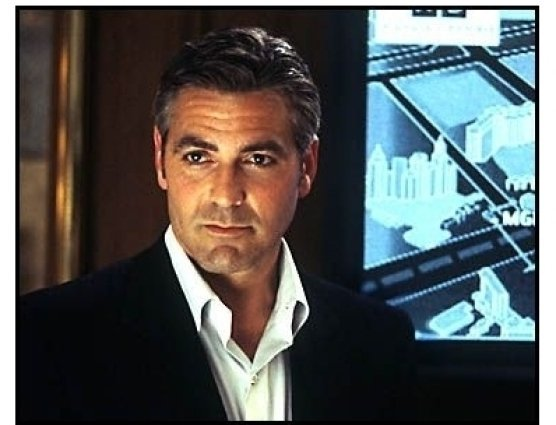 Oceans Eleven movie still: George Clooney as Danny Ocean